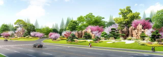 蛟川生态园入口地块效果图