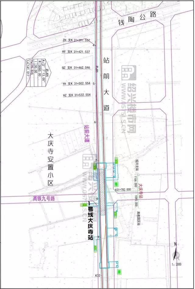 绍兴地铁1号线所有站点及出口设置曝光!