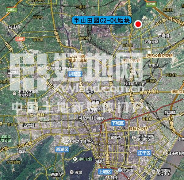 下周,杭州主城区将出让位于半山田园的一宗商地,地块位于依山路北侧
