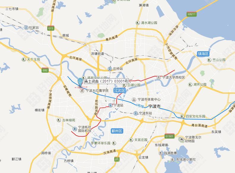44亿竞得宁波海曙区高桥镇商住地,楼面价5930元/㎡,溢价0.5%