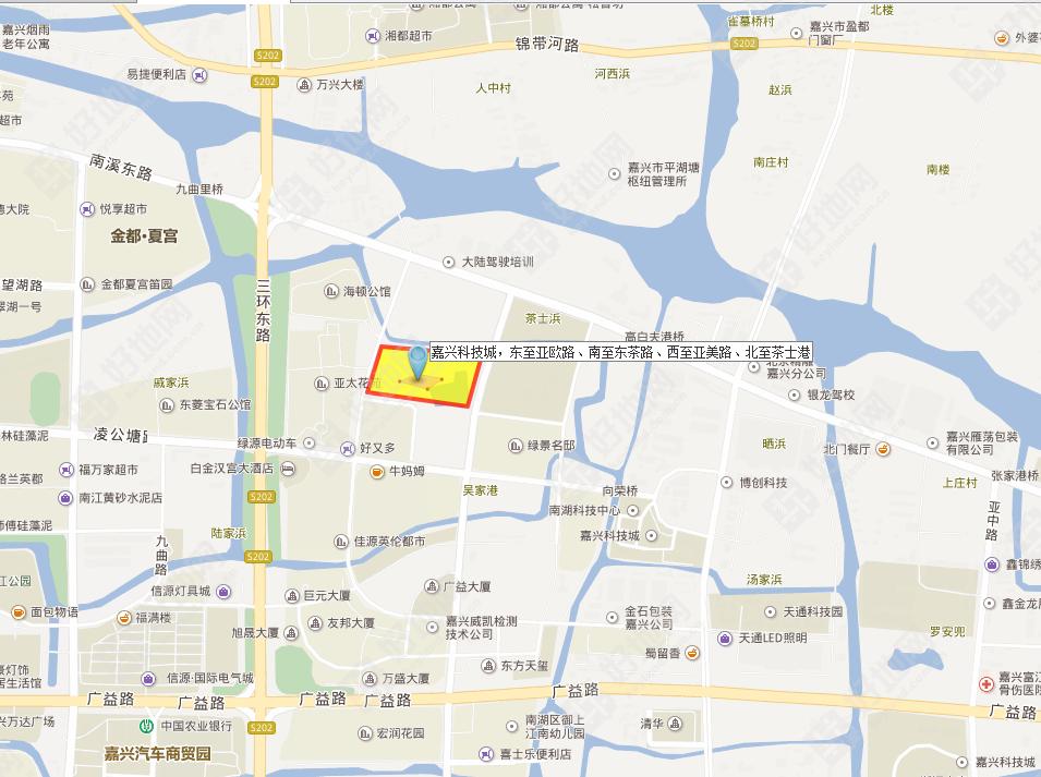 【6月6日出让】嘉兴科技城,东至亚欧路,南至东茶路地块